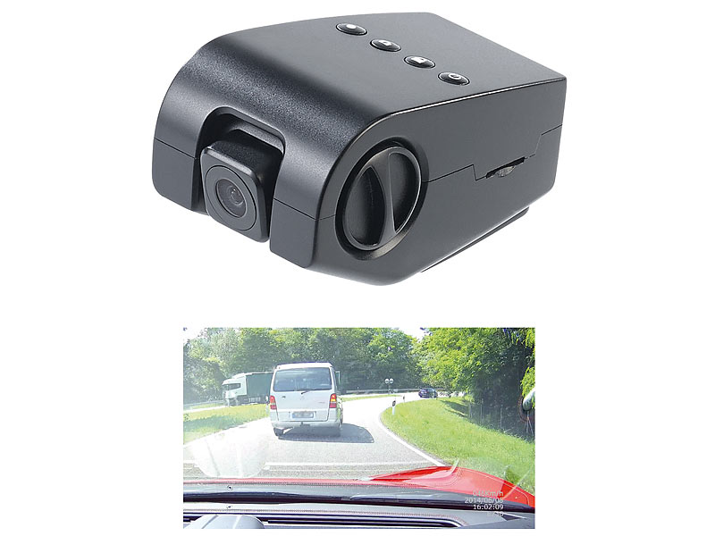 NavGear Full HD Mini-Dashcam MDV-4300.mini mit G-Sensor