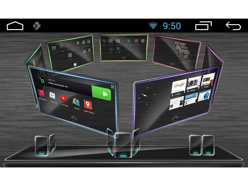 navgear 1 din android autoradio mit 7 navi d a ch. Black Bedroom Furniture Sets. Home Design Ideas