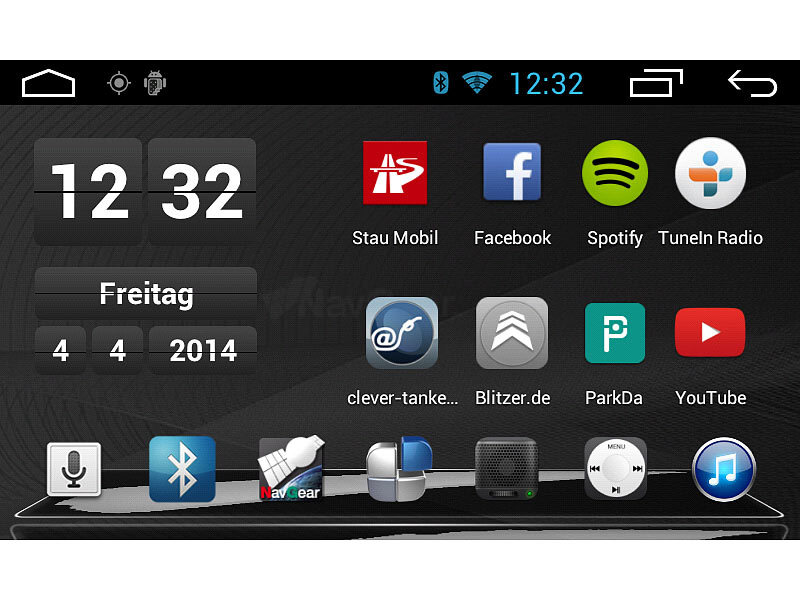 navgear 1 din android autoradio mit 7 navi dsr n 210 deutschland. Black Bedroom Furniture Sets. Home Design Ideas
