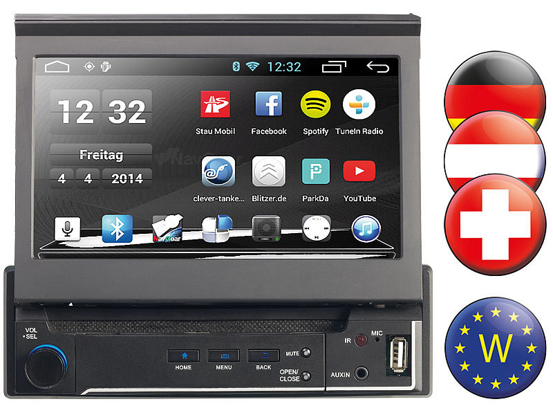 navgear 1 din android autoradio mit 7 navi dsr n 310 westeuropa. Black Bedroom Furniture Sets. Home Design Ideas