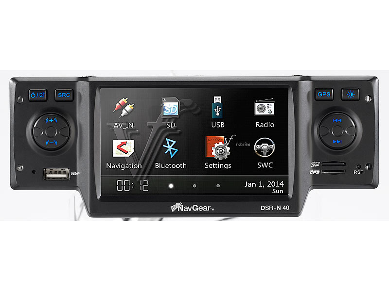 navgear streetmate 1 din autoradio mit 4 3 navi dsr n 40. Black Bedroom Furniture Sets. Home Design Ideas