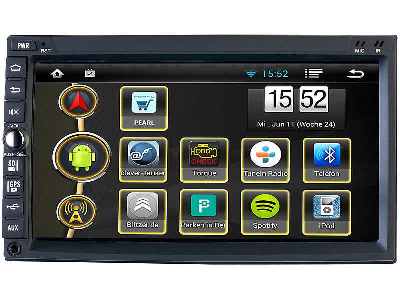 2-DIN Android-Autoradio  GPS, WiFi, BT2, Miracast (refurbished)