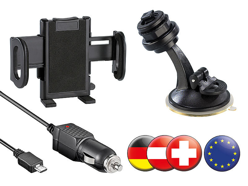 NavGear Navi-Upgrade-Kit für simvalley SP-60, Ost & Westeuropa; Android Outdoor-Smartphones Android Outdoor-Smartphones Android Outdoor-Smartphones