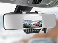 NavGear HD-Rückspiegel-Dashcam & Bluetooth-Freisprecheinrichtung, mit G-Sensor; Dashcams mit G-Sensor (HD) Dashcams mit G-Sensor (HD) Dashcams mit G-Sensor (HD) Dashcams mit G-Sensor (HD)