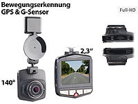 "NavGear Full-HD-Dashcam MDV-2770.gps mit GPS & G-Sensor, 5,8-cm-Display (2,3""); Dashcams mit G-Sensor (HD) Dashcams mit G-Sensor (HD) Dashcams mit G-Sensor (HD) Dashcams mit G-Sensor (HD)"