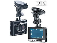 NavGear Full-HD-Dashcam mit autom. Nachtsicht-Modus, G-Sensor & GPS-Empfänger; Dashcams mit G-Sensor (Full HD) Dashcams mit G-Sensor (Full HD) Dashcams mit G-Sensor (Full HD)