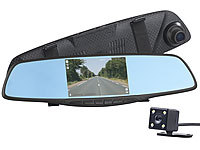 NavGear Full-HD-Rückspiegel-Dashcam mit Rückfahrkamera und Nachtsicht-Modus; Dashcams mit G-Sensor (Full HD) Dashcams mit G-Sensor (Full HD) Dashcams mit G-Sensor (Full HD)