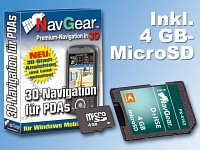 NavGear Navisoftware für simvalley MOBILE XP-45/65 D+HSE, 4 GB microSD